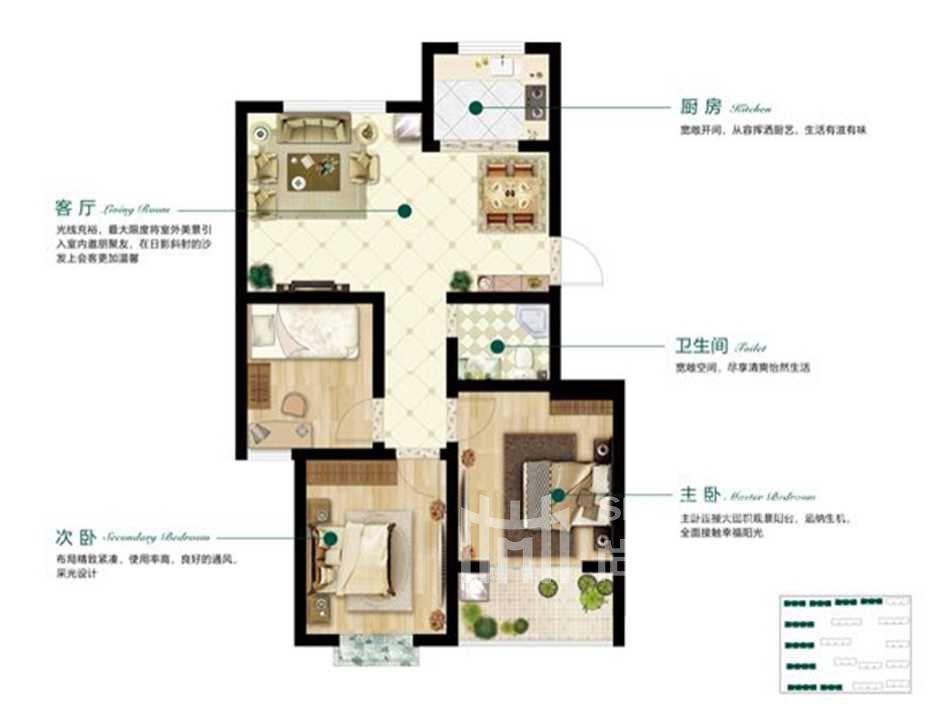 三室一厅D户型